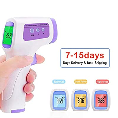 Infrared Thermometer Forehead Thermometer,Fever Non Contact Thermometer Gun LCD Digital Temperature Thermometer for Adult Baby Child