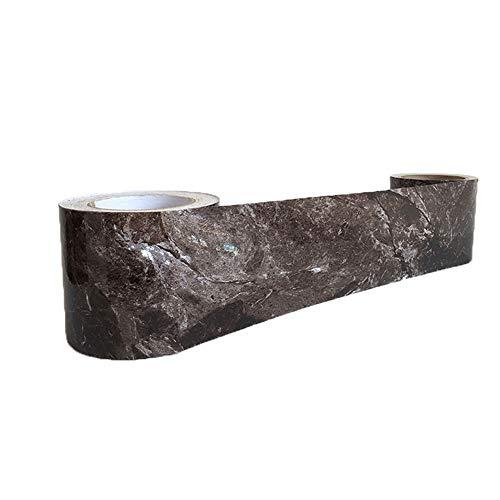 NBWS Meubelfolie, plakfolie, aftrekbehang, vinyl zelfklevend decorfolie raamsticker PVC sticker voor meubels keuken keukenkast - zwarte steen 12*100cm zwart