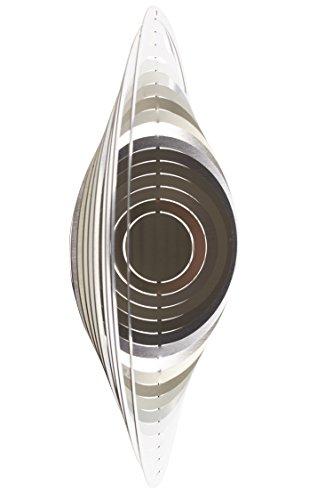 A2002 - steel4you hochwertiges 3D Windspiel aus Edelstahl - Kreis 15cm x 15cm - made in Germany
