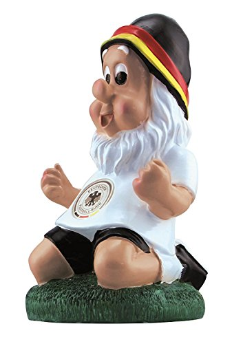 DFB Gartenzwerg in Jubelpose 20cm Deutschland Fußball Fanartikel Ideal zur WM Russland 2018 Weltmeister Garten Dekoration