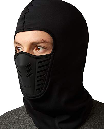 Self Pro Winter Balaclava Ski Mask Thermal Fleece Breathable Windproof Face Mask Men Women for Cold Weather (Black - Air Flow)