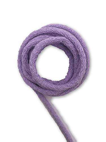 Slantastoffe 5m Baumwollkordel 5mm, Kordel, Schnur, Turnbeutel, 21 Farben (Lavendel)