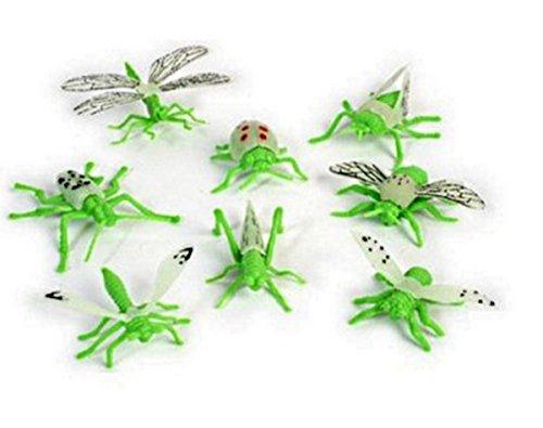 BG Lot de 10 Insecte PHOSPHORESCENTS SAUTRELLE Libellule ARAIGNÉE SCARABÉ