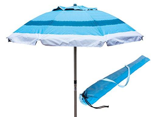 Joy Summer Ombrellone in Alluminio Spiaggia Mare con Camino Anti-Vento Ultra Leggero PANAREA - Blu