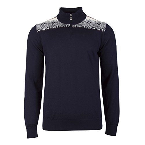 Dale of Norway Men's Fiemme Athletic Sweaters, X-Large, Navy/Rasp/Orange/Peach/Off White