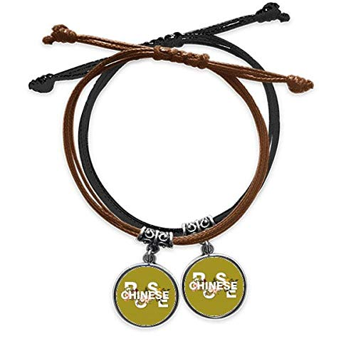 OFFbb-USA Flower Rose Varieties China Bracelet Double Leather Rope Wristband Couple Set Gift -  x10098109b10052313f243836