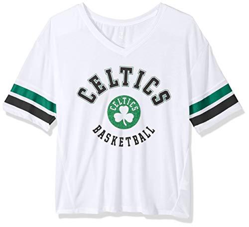 Outerstuff NBA NBA Juniors Boston Celtics Mesh Blocker Short Sleeve Top, White, Small(3-5)