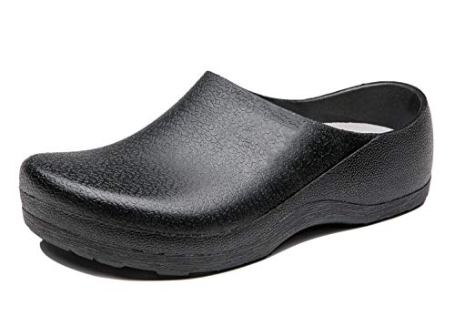 INiceslipper Great Nursing Shoes Chef Shoes Clock Work Slip Resistant Work Clog Shoes for Adults,Women,Men (10.5m/11.5w/45) Black