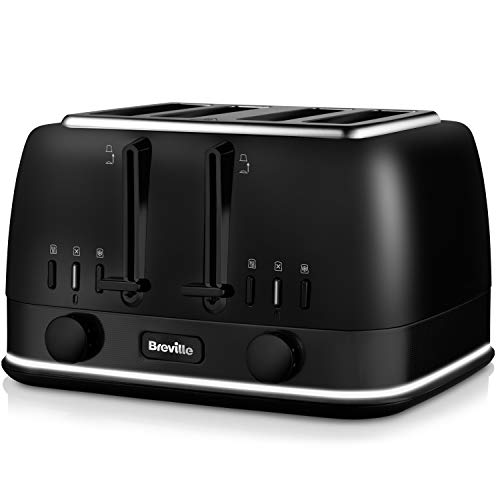 Breville VTT943 New York Collection 4 Slice Toaster with Lift and Look, Matt Black Stainless Steel
