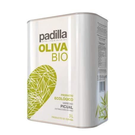 4 latas de 3 litros de Aceite de Oliva Virgen Extra Ecológico Padilla BIO | Aceite Variedad Picual | Aceite Oliva Ecológico| Aceite de Oliva Padilla | Productos Gourmet