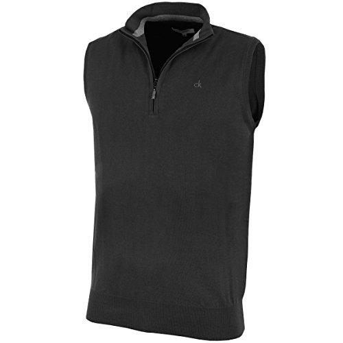Calvin Klein Golf Herren V-Ausschnitt ärmellose Weste - schwarz (blk) - L