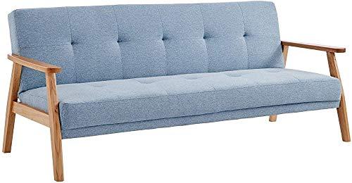 CGIIGI Sofá Moderno sofá Cama sofá Cama sofá Cama Larga Silla shirun Cama, Sala de Estar sofá,Blue