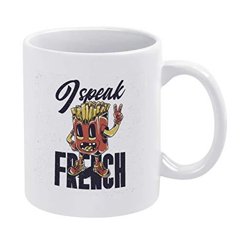 Coffee Mug Funny Fries Character White Mug - Mug Gift - Best gift for Friend 11ounce Ceramic Mug