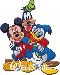 Disney Movie Character Mickey Mouse Goofy & Donald Duck Embroidered Iron On Patch DS-323