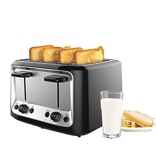 JYDQM broodrooster voor broodmachine, 2 schijven, extra breed, roestvrij staal met ontdooifunctie, uitneembaar kruimelvak