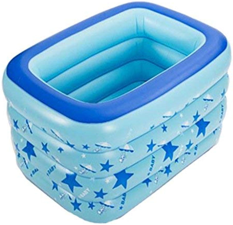 ZHAS Aufblasbare Badewanne Aufblasbare Babybecken Familie Large Marine Ball PoolVerdickungskinderspielplatz für Erwachsene (Farbe  Blau)
