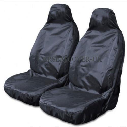 imperméable ultra résistant Noir Housses de siège auto/Protection–2x façades