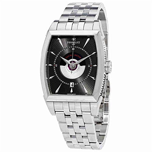 Perrelet Men's Steel Bracelet & Case Automatic Grey Dial Analog Watch...