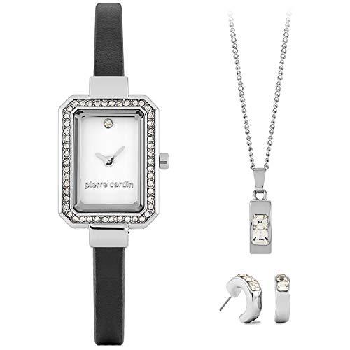 Set de Regalo para señora Pierre Cardin con Cadena, Reloj y Pendiente.