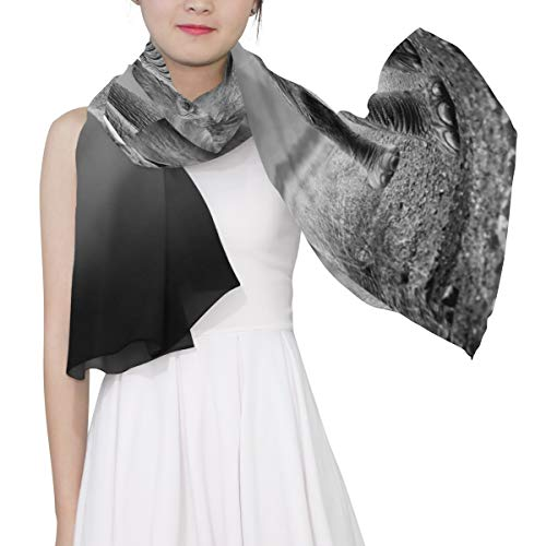 Huge Grey Elephant With Two Ivory Unique Fashion Scarf For Women Lightweight Fashion Fall Winter Print Scarves Shawl Wraps Gifts For Early Spring