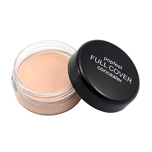 Full Cover Base Concealer Cream, Women Liquid Foundation Smooth Concealer Corrector Long Lasting for Dark Spot Under Eye Circles Cover Face Makeup Hide Dark Spot
