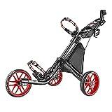 CADDYTEK Facil-plegable Carrito de golf 3 Rueda empuje cart , rojo