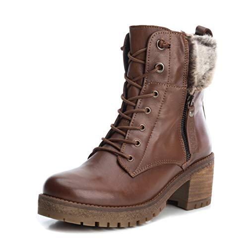 Carmela by Xti Footwear 66492 Camel Braun Brown Stiefelette Ankle Boots (40 EU, Camel)