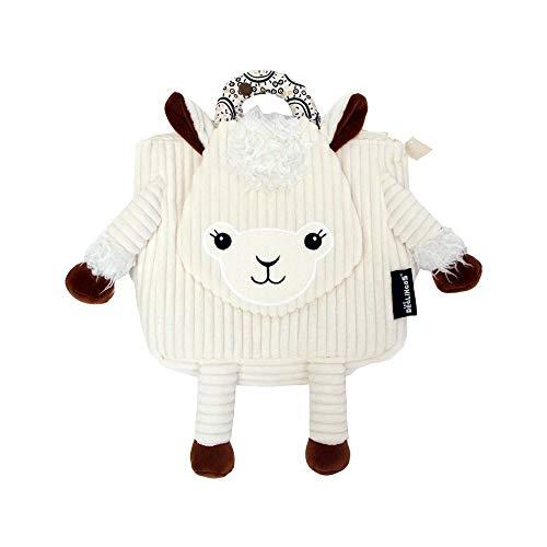 Les Déglingos Muchachos le lama - Zaino in velluto, ultra morbido, in peluche, adatto fin dalla nascita, regalo per bambini