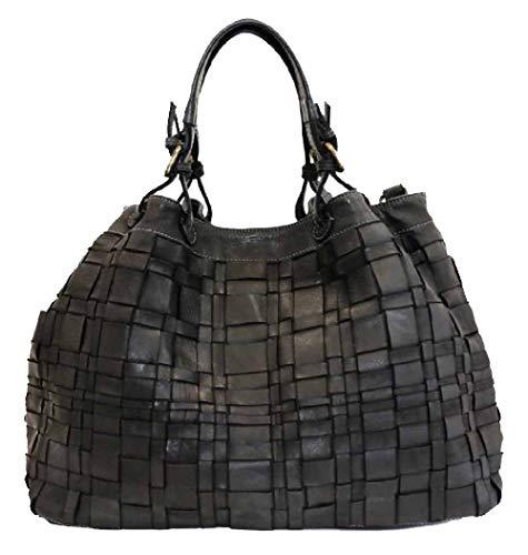BZNA Bag Marta schwarz Italy Designer Damen Handtasche Schultertasche Tasche Schafsleder Shopper Neu