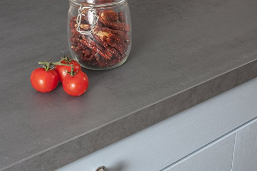 WORKTOPEXPRESS Betonoptik - Resopal Küchenarbeitsplatten (4m × 600mm × 38mm)
