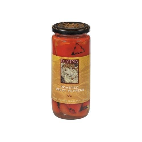 Roasted Sweet Popular brand Peppers gift Divina 13 oz. 3 pack by