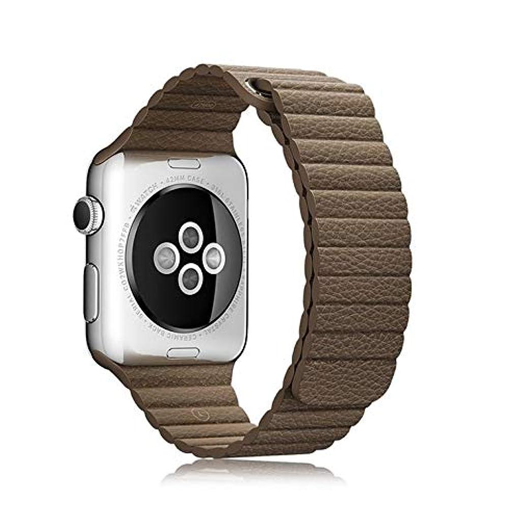 知覚できるフェッチ禁止するiphoneの腕時計のための多色のハンドメイドの方法耐久の防水革のループバックルの時計バンド