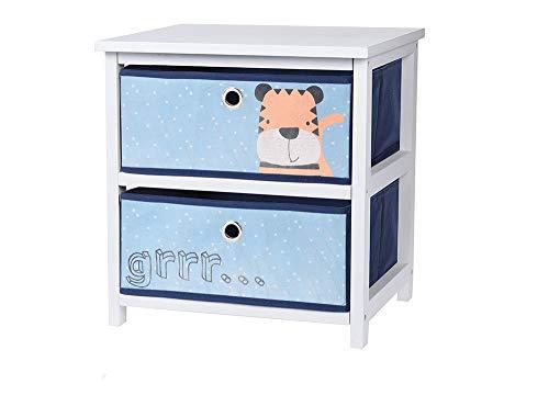 Mini-Kommode für Kinder, mit 2 Schubladen, verschiedene Farben