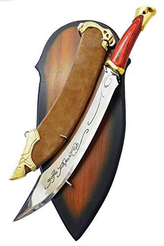 dragonreborn LOTR Herr Der Ringe Elven Messer oder Strider Schwert mit EIN Hoelzernes Display Enthalten