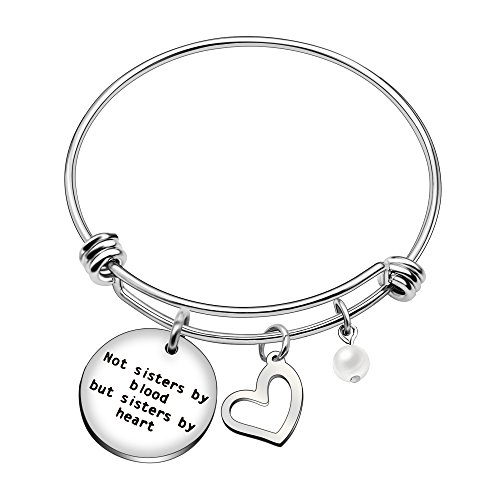 Pulsera para hermana con texto en inglés «Best Friend Sisters By Blood But Sisters By Heart