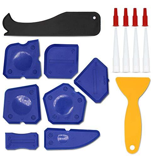 17 Pezzi Portatile Kit di Raschietto in Silicone,Spatole Professionale per Silicone per Tutte le Stanze da Cucina e Cornici Spatole per Silicone