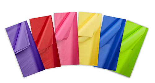 Jillson Roberts All-Occasion Tissue in Assorted Solid Colors, Primary Mix, 72 Sheet-Count