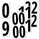 40 Piezas, 150 mm - Pegatinas Números Adhesivos Grande, Vinilo Impermeable - Números Negros