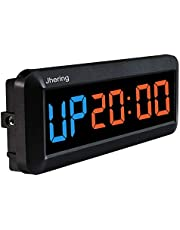N/ A 1.5 Inch 6 Digitale Led Interval Timer Stopwatch Countdown Klok voor Gym Fitness Thuis (Blauw/Rood)