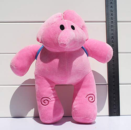 LYH2019 Elly Pocoyo Peluche Figura Elefante Elly Juguete de Peluche Muñeco De Peluche De Peluche Pocoyo Muñeca De Peluche Suave Pocoyo Figura Suave Juguetes para Niños 26cm
