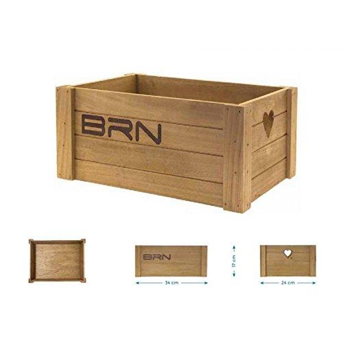 BRN Love Holzkorb Holzkiste Fahrradkorb Fahrradkiste wood retro SMALL braun