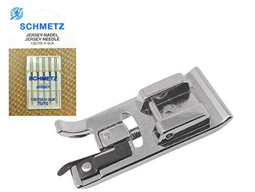 ZickZackNaehmaschine Juego de prensatelas Overlock + 5 agujas Schmetz 130/705 H SUK...
