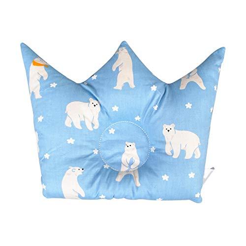 SFBBBO pillow Prevent Flat Head Infant Cartoon Positioning Multifunctional Cushion Bedding Crown Shape Pillow Newborn 3
