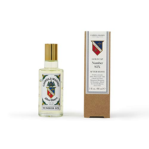 Caswell-Massey Number Six After Shave – Soothing Aftershave with Orange Blossom, Bergamot and Rosemary – 3 Ounces