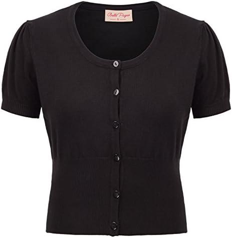 Belle Poque Short Sleeve Women Cardigan Bolero Shrug for Dress BP707 1 Black product image