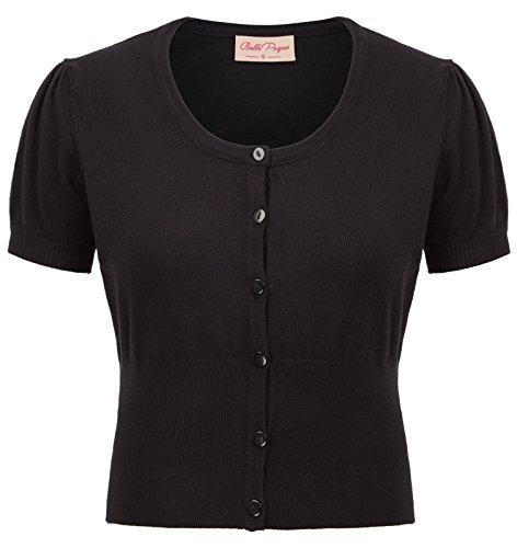 Belle Poque Short Sleeve Women Cardigan Bolero Shrug for Dress BP707-1 Black