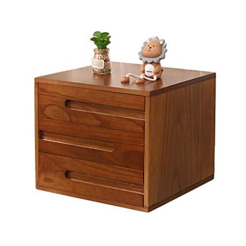 Archivadores de fichas Archivador, Caja de almacenamiento de archivos de 3 capas de madera, Gabinete organizador de oficina, Cajonera de escritorio, La cómoda del archivo puede colocar papel A4 (L39xD