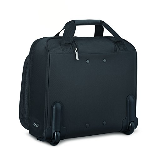 Solo New York Bryant Rolling Laptop Bag. Travel-Friendly Rolling Briefcase for Women and Men. Fits Up To 17.3 Inch Laptop.  Color Black/Grey