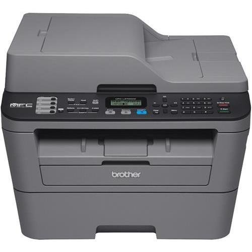 Brother MFC-L2700DW Laser Multifunction Printer - Monochrome - Plain Paper Print - Desktop - Copier/Fax/Printer/Scanner - 27 ppm Mono Print - 2400 x 600 dpi Print - 27 cpm Mono Copy LCD - 600 dpi Optical Scan - Automatic Duplex Print - 251 sheets Input -