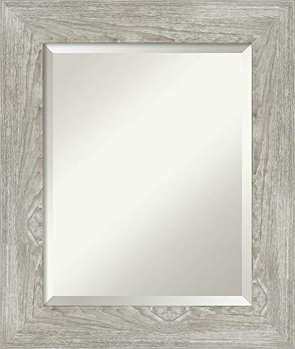 Framed Vanity Mirror | Bathroom Mirrors for Wall | Dove Greywash Mirror -